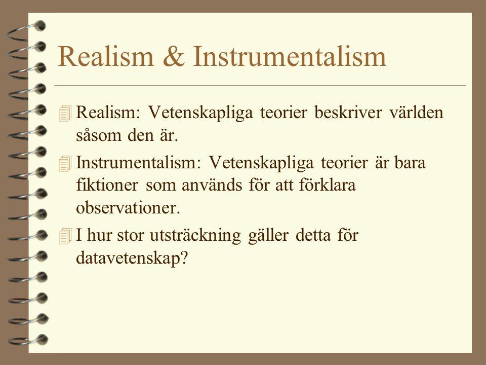 Realism & Instrumentalism