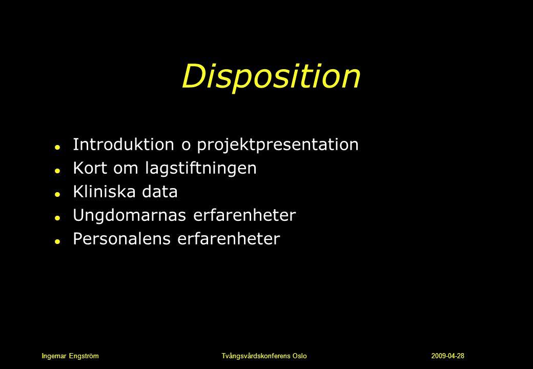 Disposition Introduktion o projektpresentation Kort om lagstiftningen