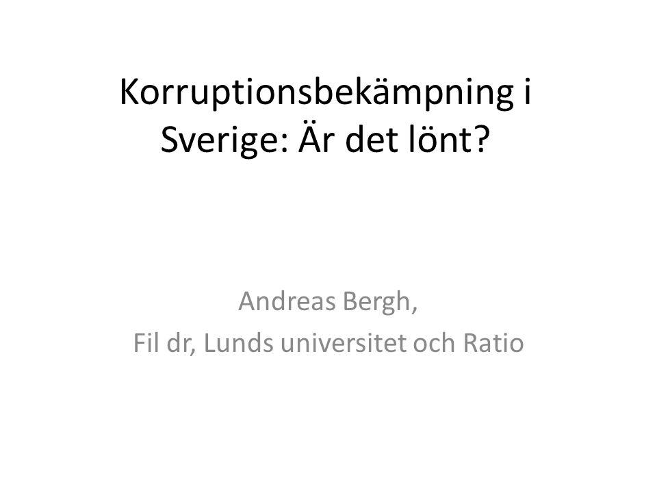 Korruptionsbekämpning i Sverige: Är det lönt
