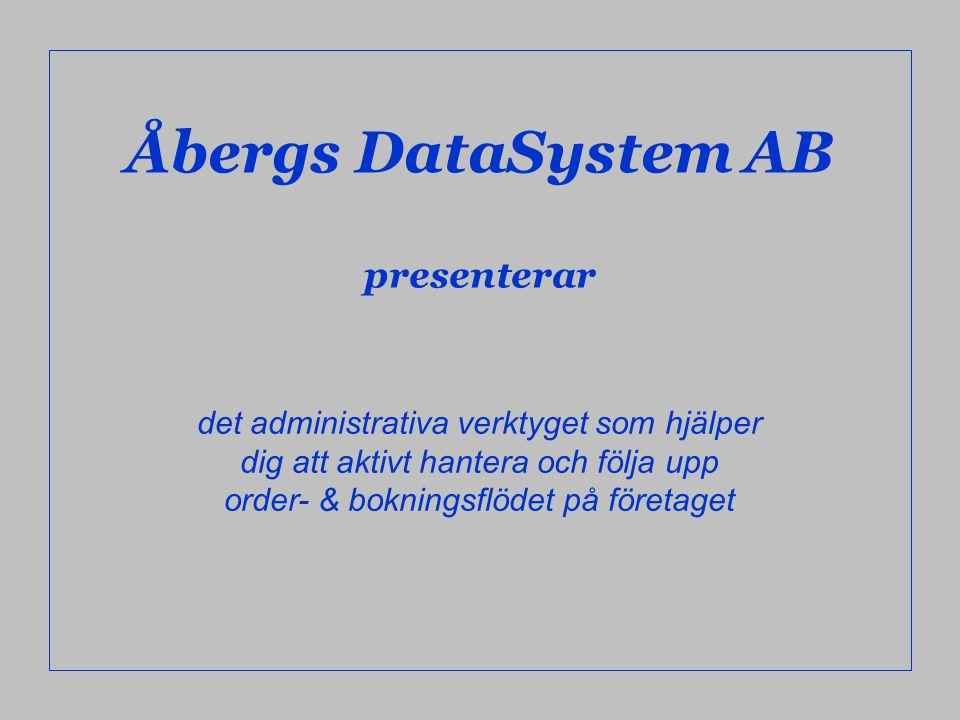 Åbergs DataSystem AB presenterar