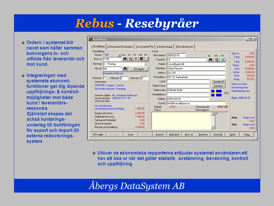 Rebus - Resebyråer Åbergs DataSystem AB