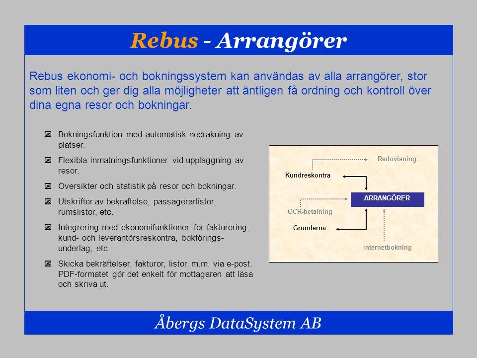 Rebus - Arrangörer Åbergs DataSystem AB