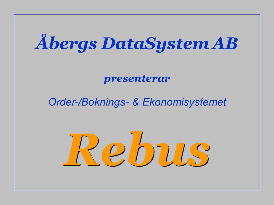 Order-/Boknings- & Ekonomisystemet
