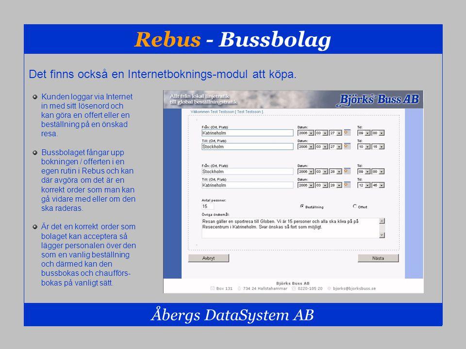 Rebus - Bussbolag Åbergs DataSystem AB