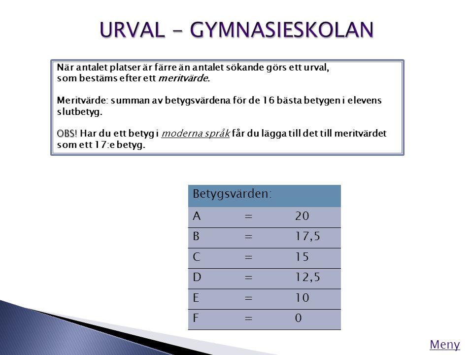 De flesta ämnen som eleverna studerar innehåller ett antal kurser, som ofta bygger på varandra (1, 2, 3 osv.)
