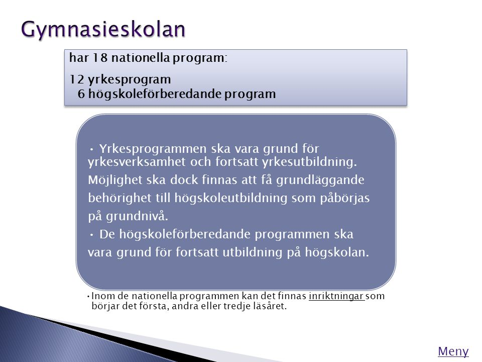 YRKESPROGRAM Meny Barn- och fritidsprogrammet (BF)