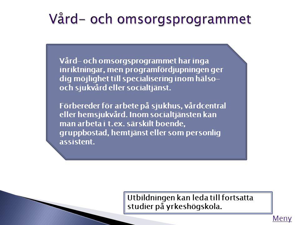 Vuxenutbildning Folkhögskolan Yrkeshögskolan Intern utbildning Meny