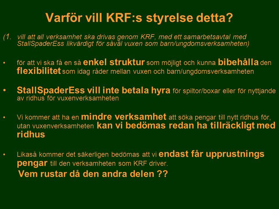Varför vill KRF:s styrelse detta