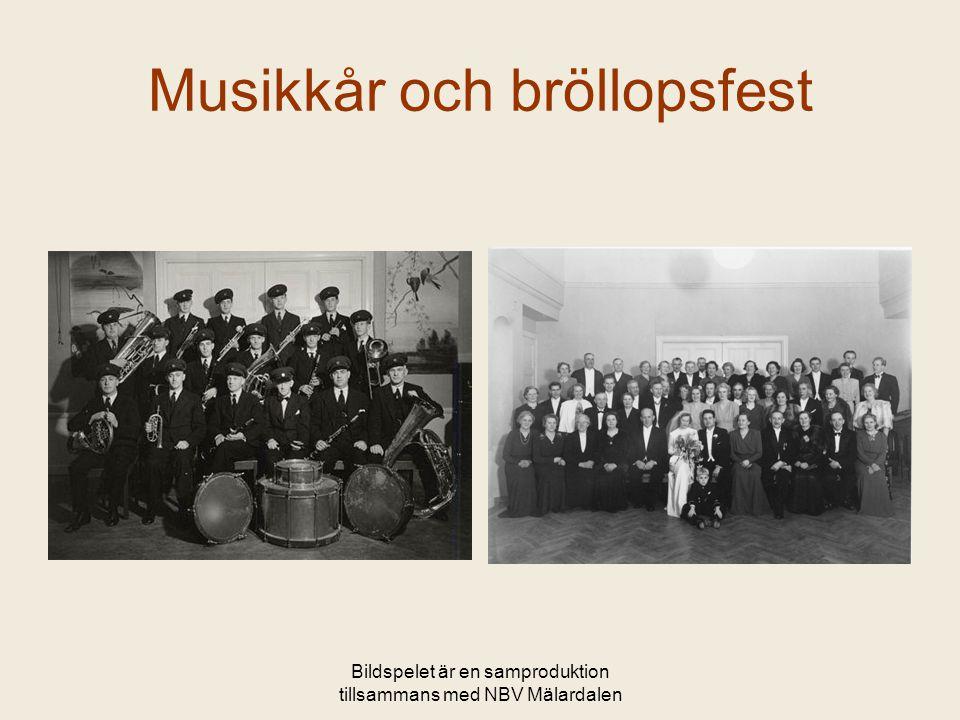 Musikkår och bröllopsfest