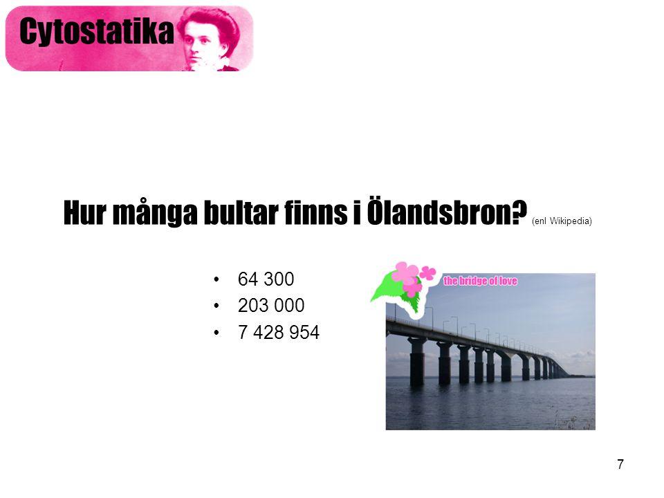 Hur många bultar finns i Ölandsbron (enl Wikipedia)
