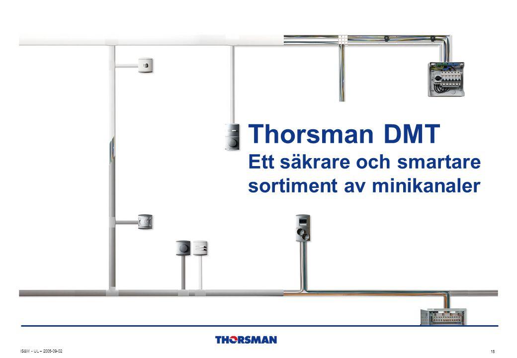 Thorsman DMT Ett säkrare och smartare sortiment av minikanaler