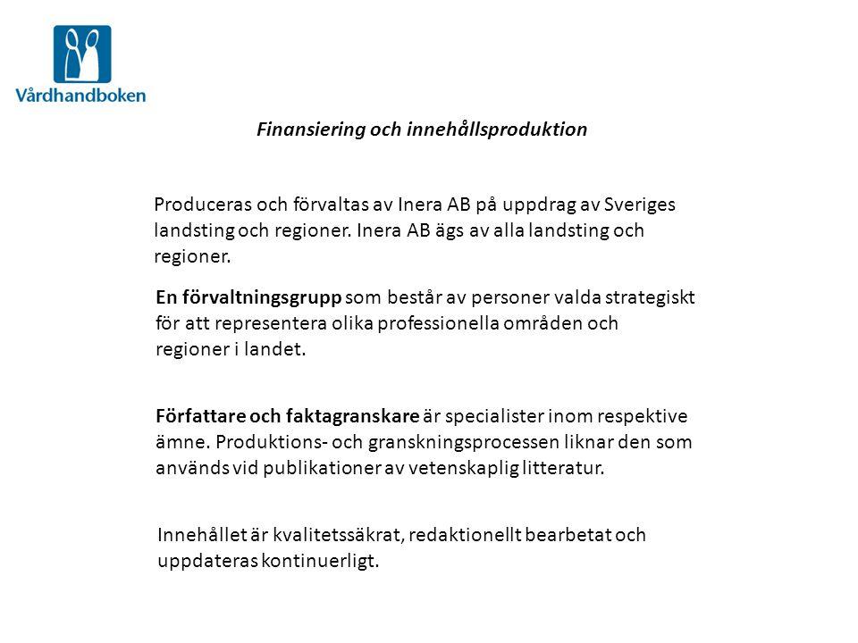 Finansiering och innehållsproduktion