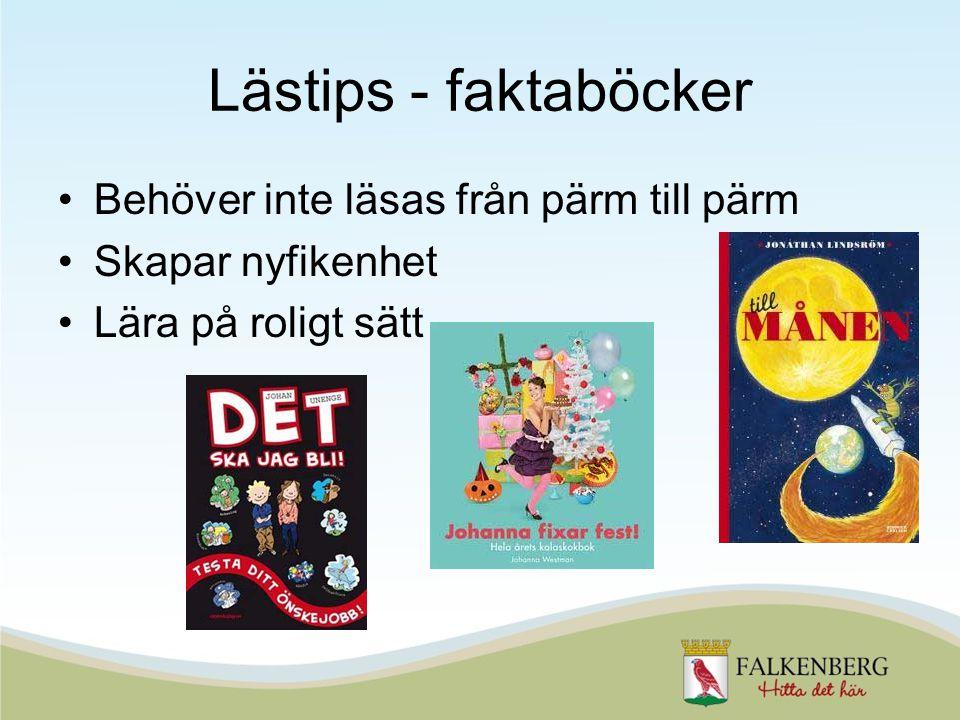 Lästips - faktaböcker Behöver inte läsas från pärm till pärm