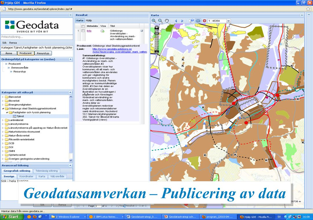 Översiktsplan – www.geodata.se Geodatasamverkan – Publicering av data