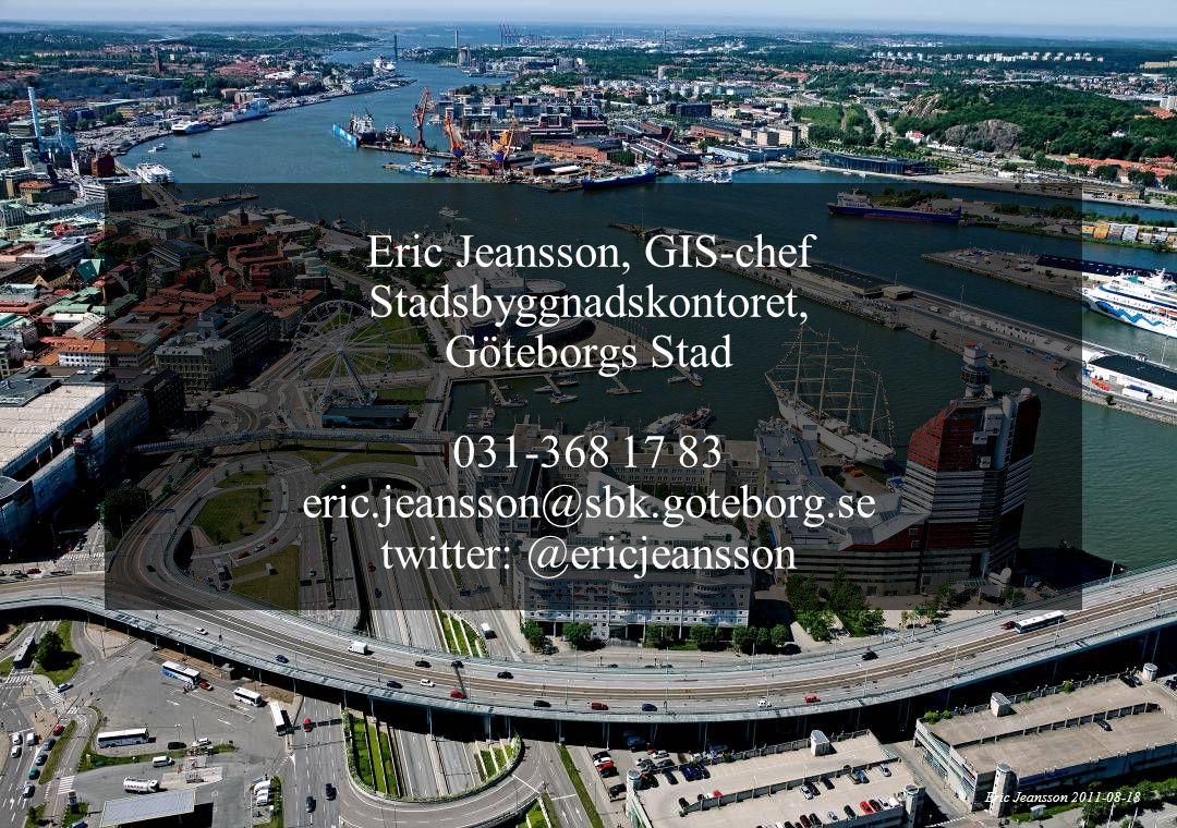 Eric Jeansson, GIS-chef Stadsbyggnadskontoret, Göteborgs Stad