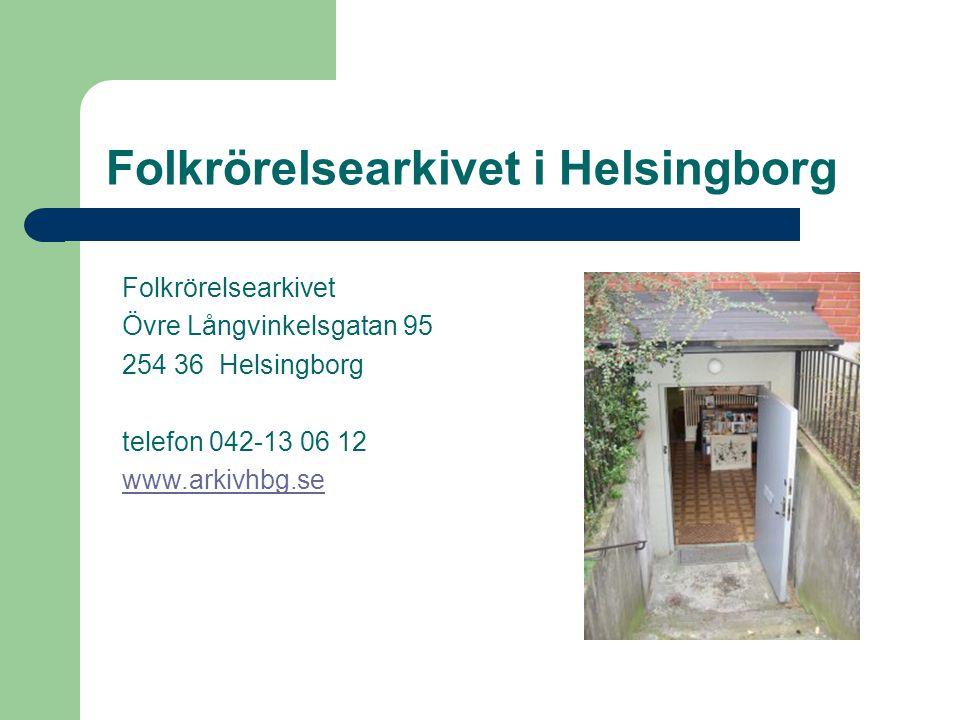 Folkrörelsearkivet i Helsingborg