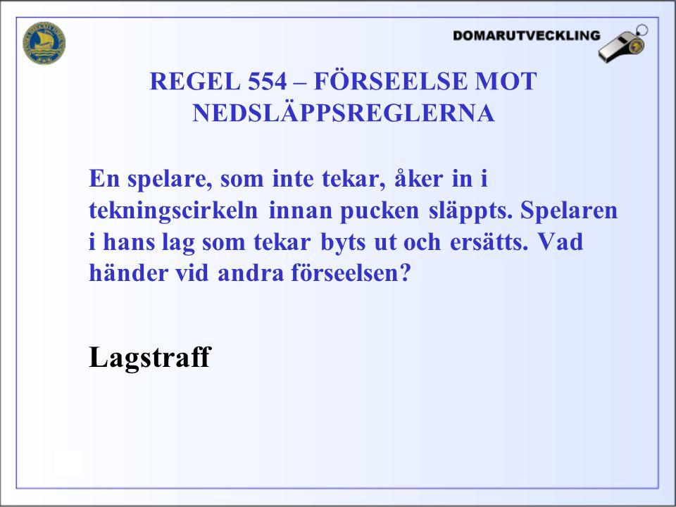 REGEL 554 – FÖRSEELSE MOT NEDSLÄPPSREGLERNA