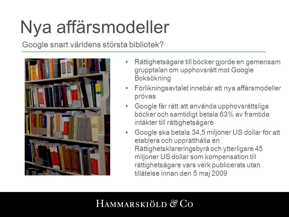Nya affärsmodeller Google snart världens största bibliotek