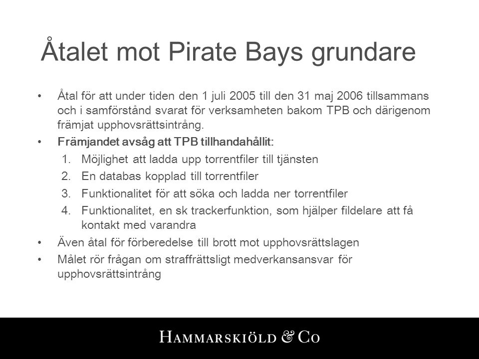 Åtalet mot Pirate Bays grundare