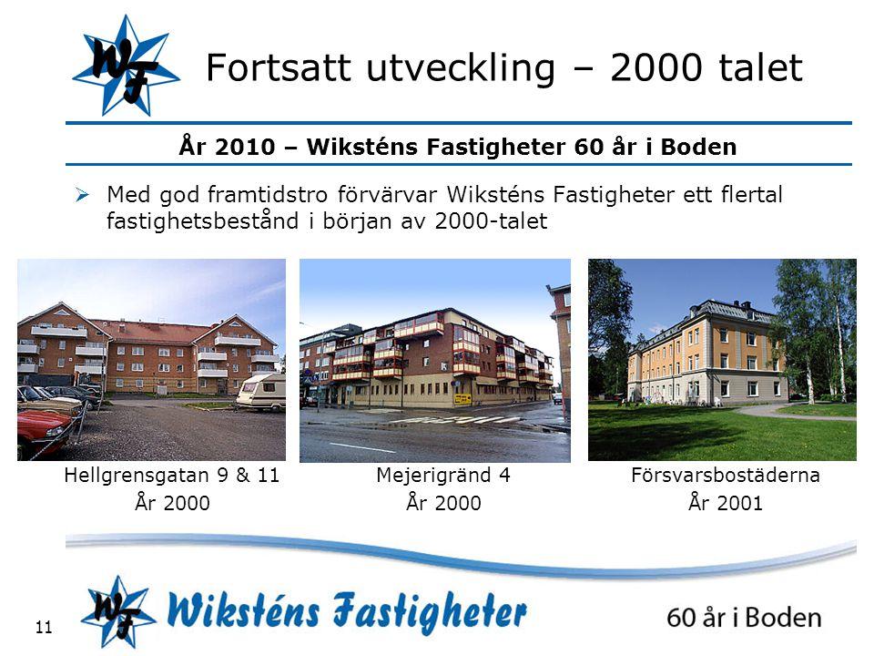 Fortsatt utveckling – 2000 talet