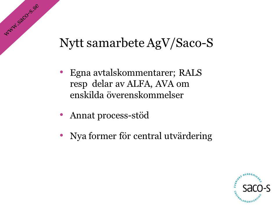 Nytt samarbete AgV/Saco-S