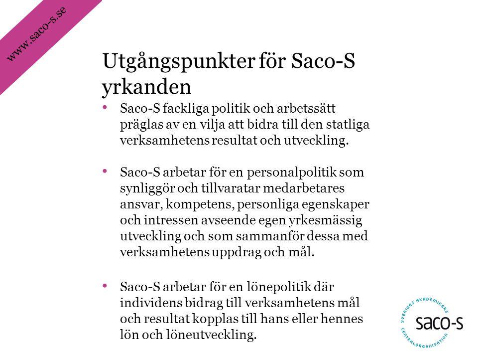Utgångspunkter för Saco-S yrkanden
