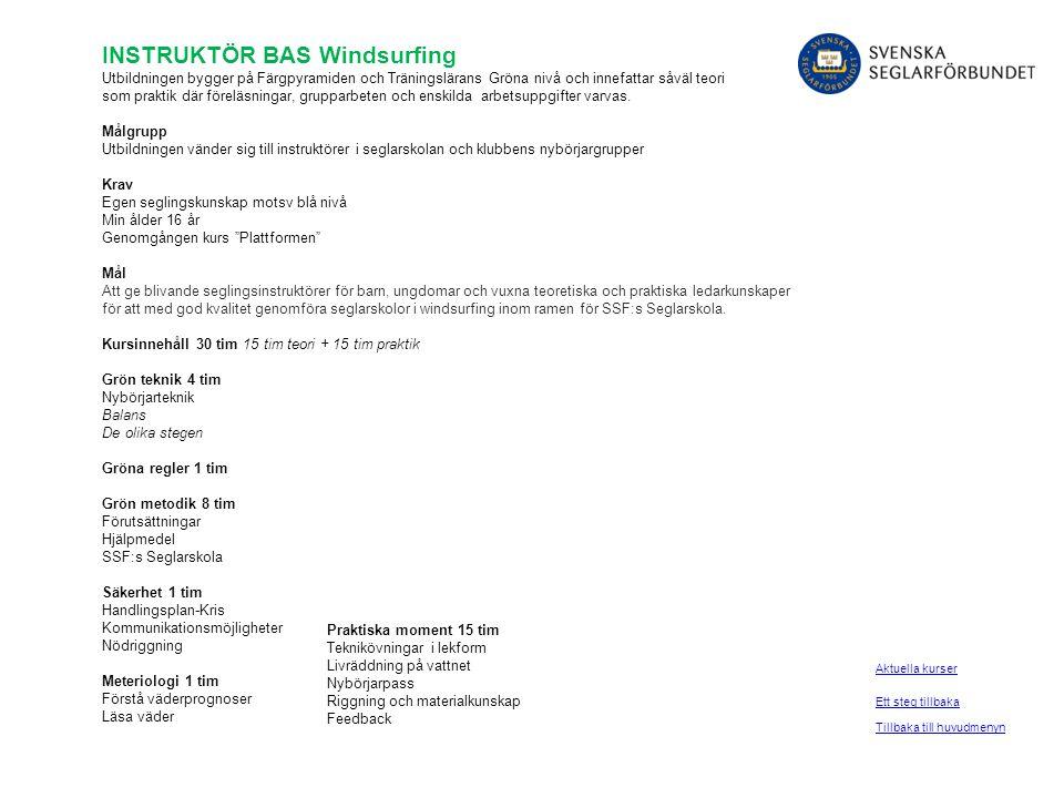 INSTRUKTÖR BAS Windsurfing