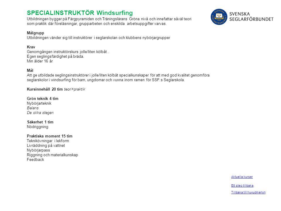 SPECIALINSTRUKTÖR Windsurfing