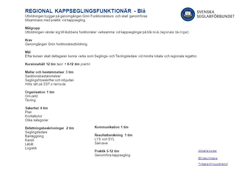 REGIONAL KAPPSEGLINGSFUNKTIONÄR - Blå