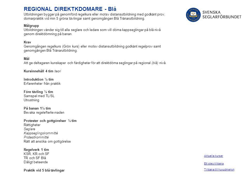 REGIONAL DIREKTKDOMARE - Blå