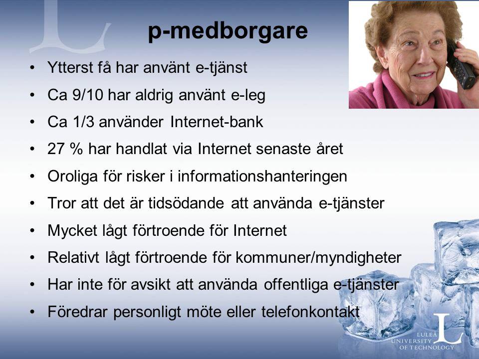 p-medborgare Ytterst få har använt e-tjänst