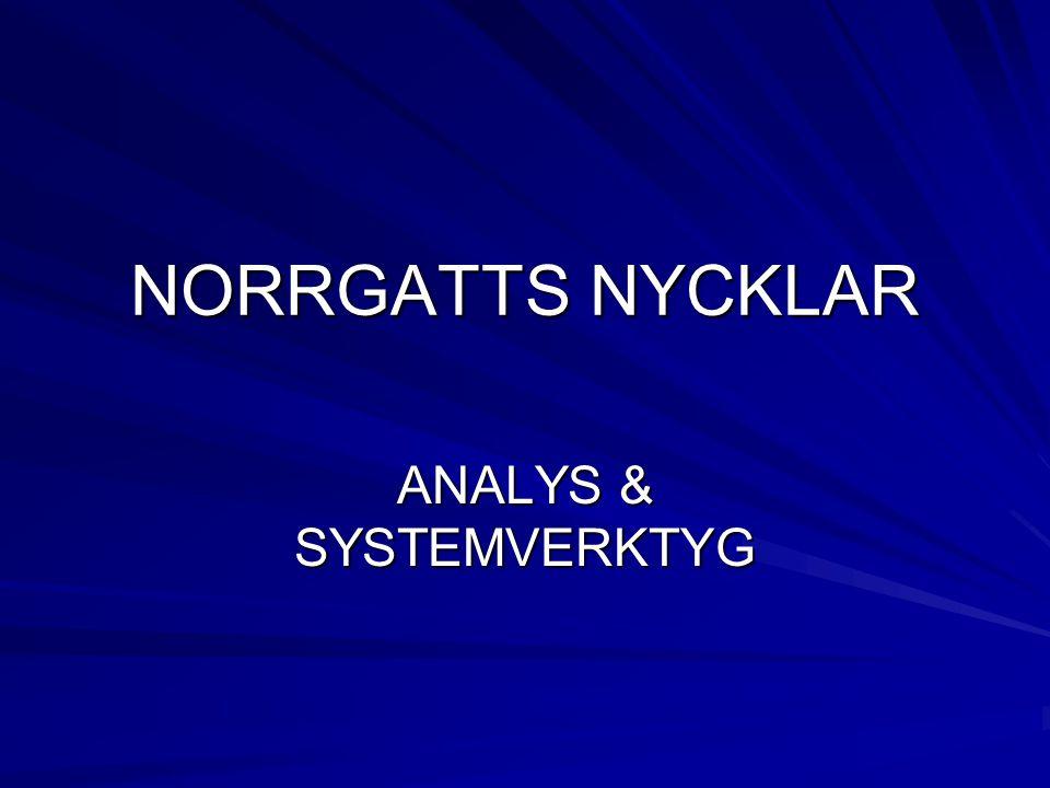 ANALYS & SYSTEMVERKTYG