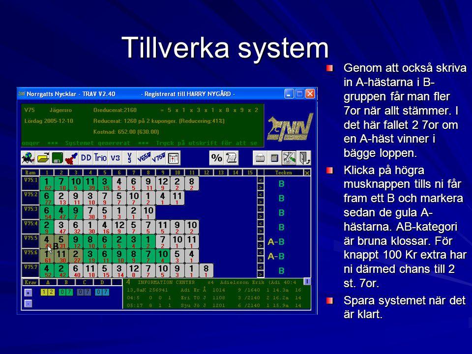 Tillverka system