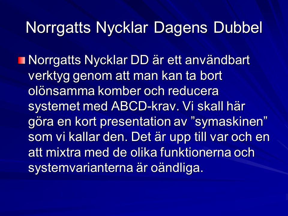 Norrgatts Nycklar Dagens Dubbel