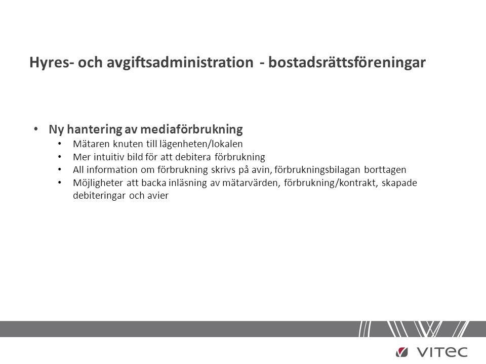 Hyres- och avgiftsadministration - bostadsrättsföreningar