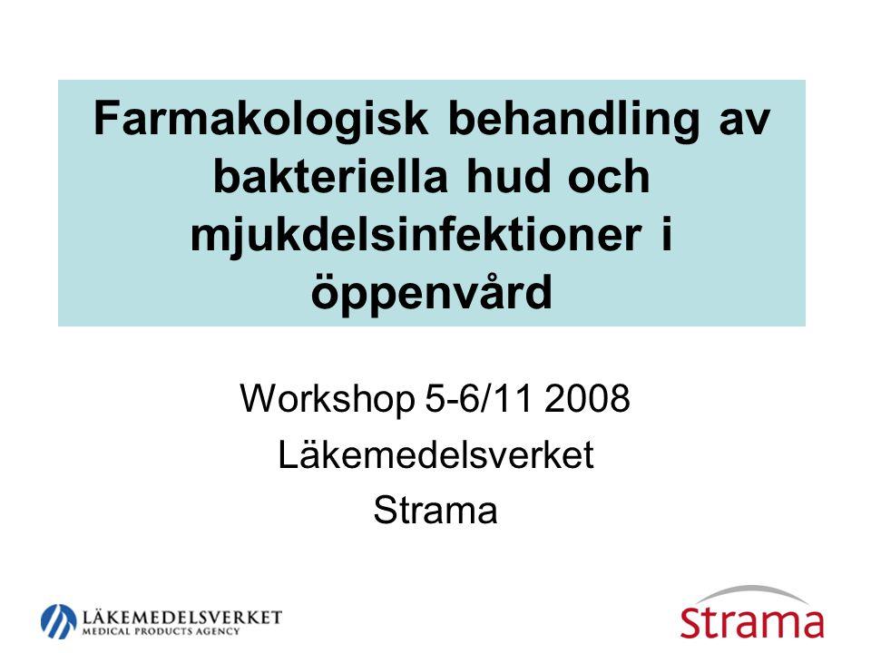 Workshop 5-6/11 2008 Läkemedelsverket Strama
