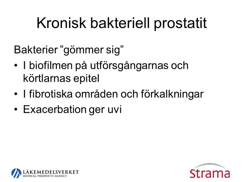 Kronisk bakteriell prostatit
