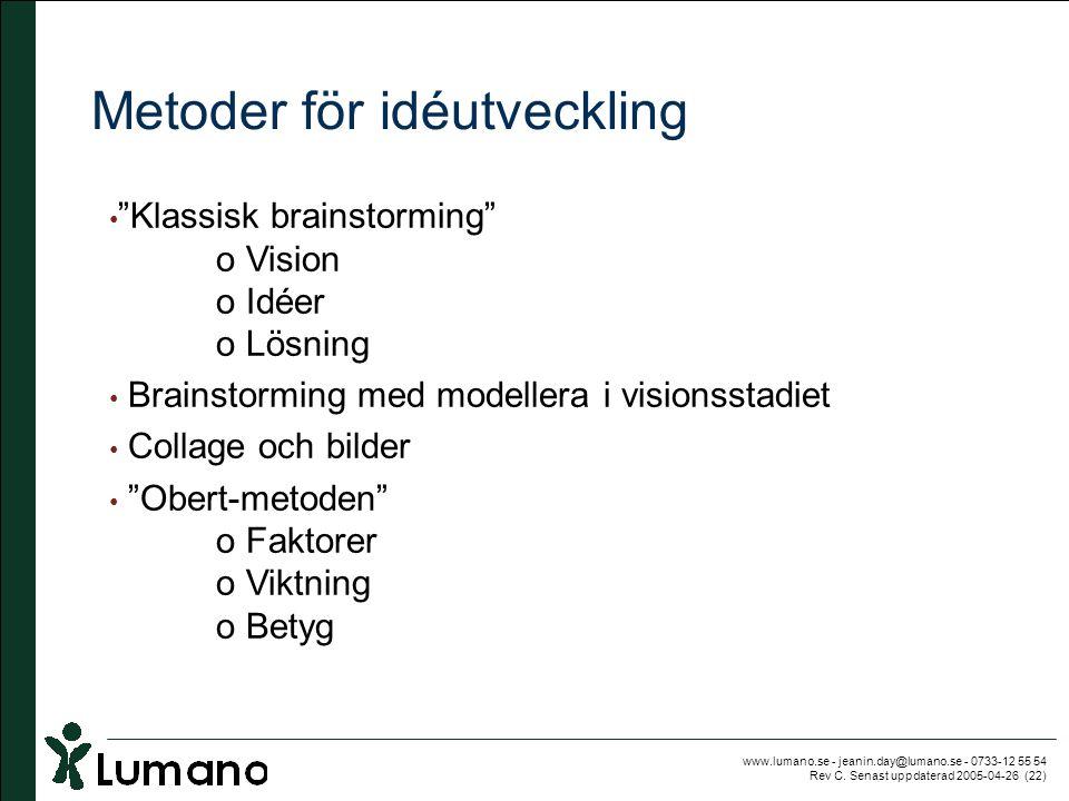 Metoder för idéutveckling