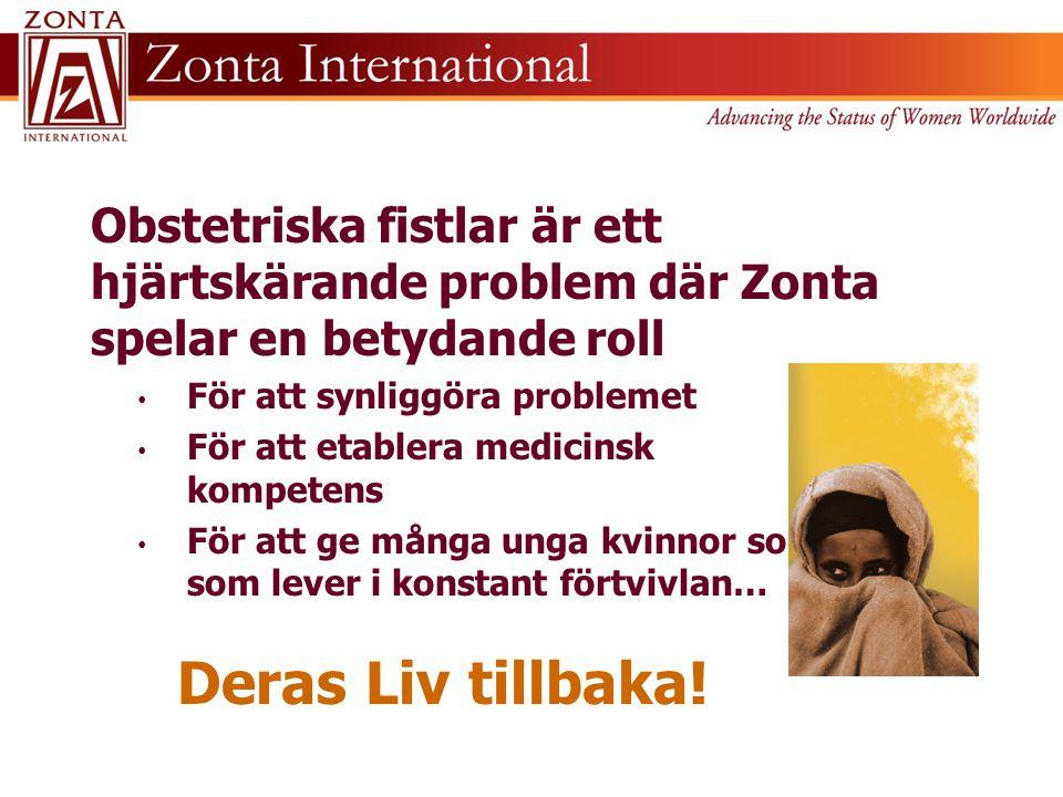 Obstetriska fistlar är ett hjärtskärande problem där Zonta spelar en betydande roll