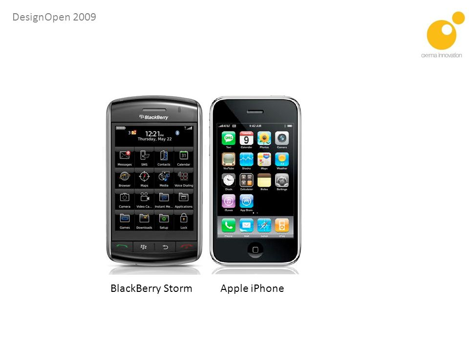 BlackBerry Storm Apple iPhone