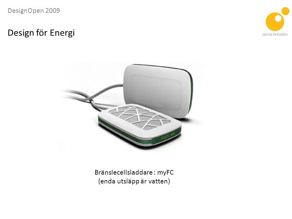 Design för Energi Bränslecellsladdare : myFC (enda utsläpp är vatten)