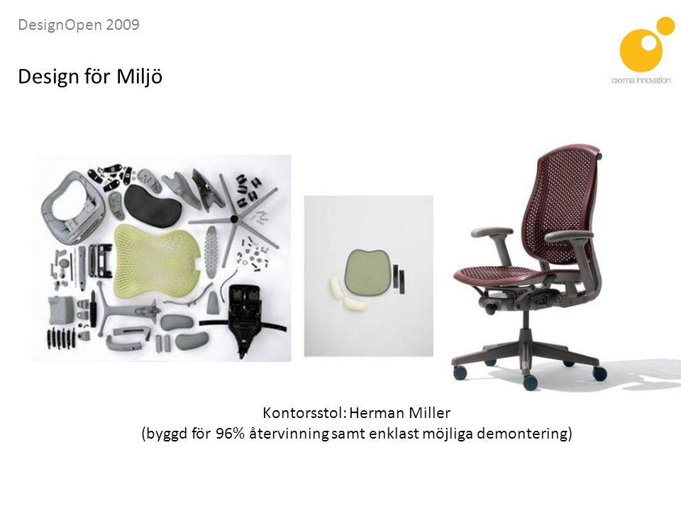 Design för Miljö Kontorsstol: Herman Miller