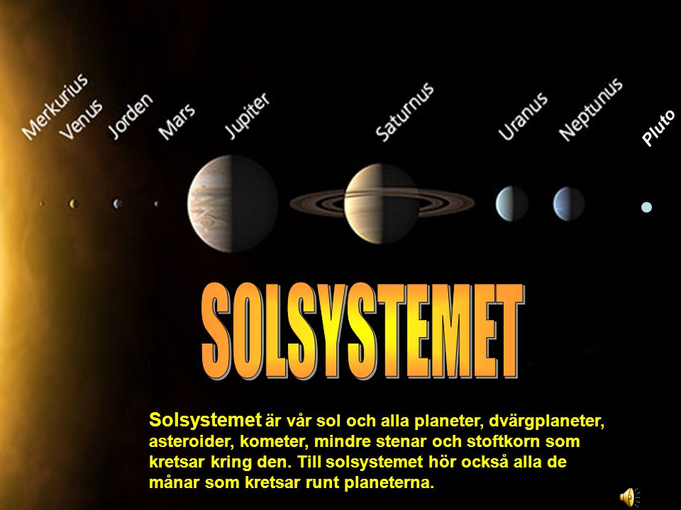 Pluto SOLSYSTEMET.