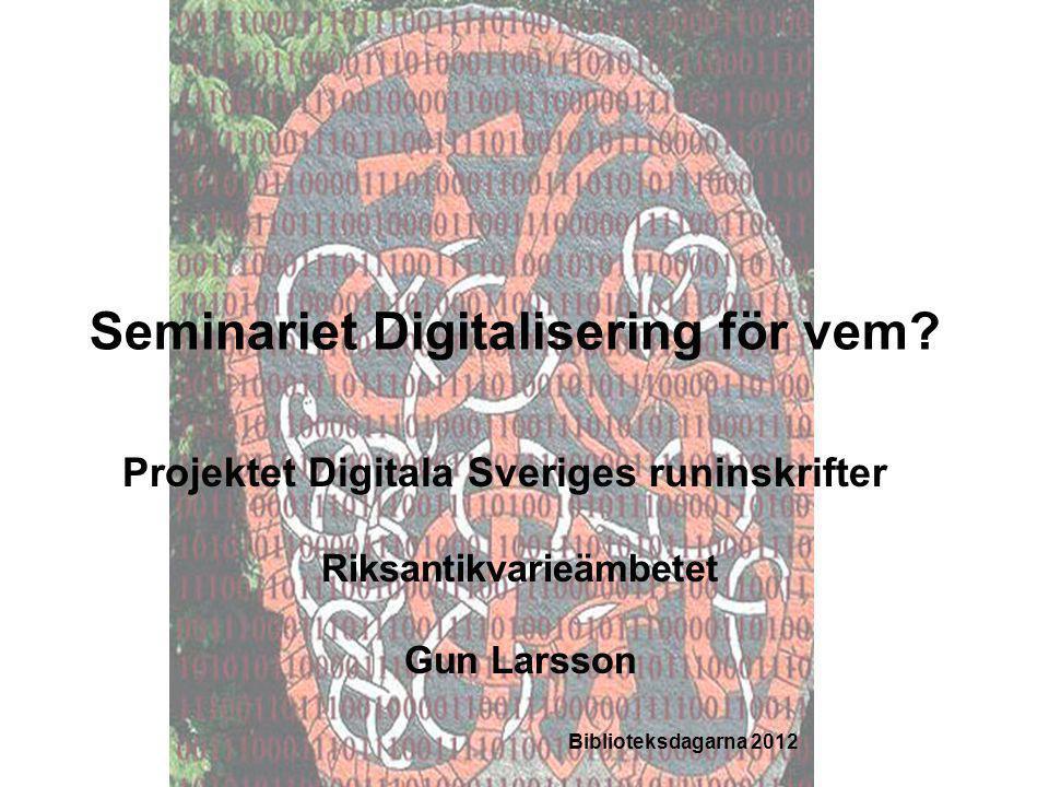 Seminariet Digitalisering för vem