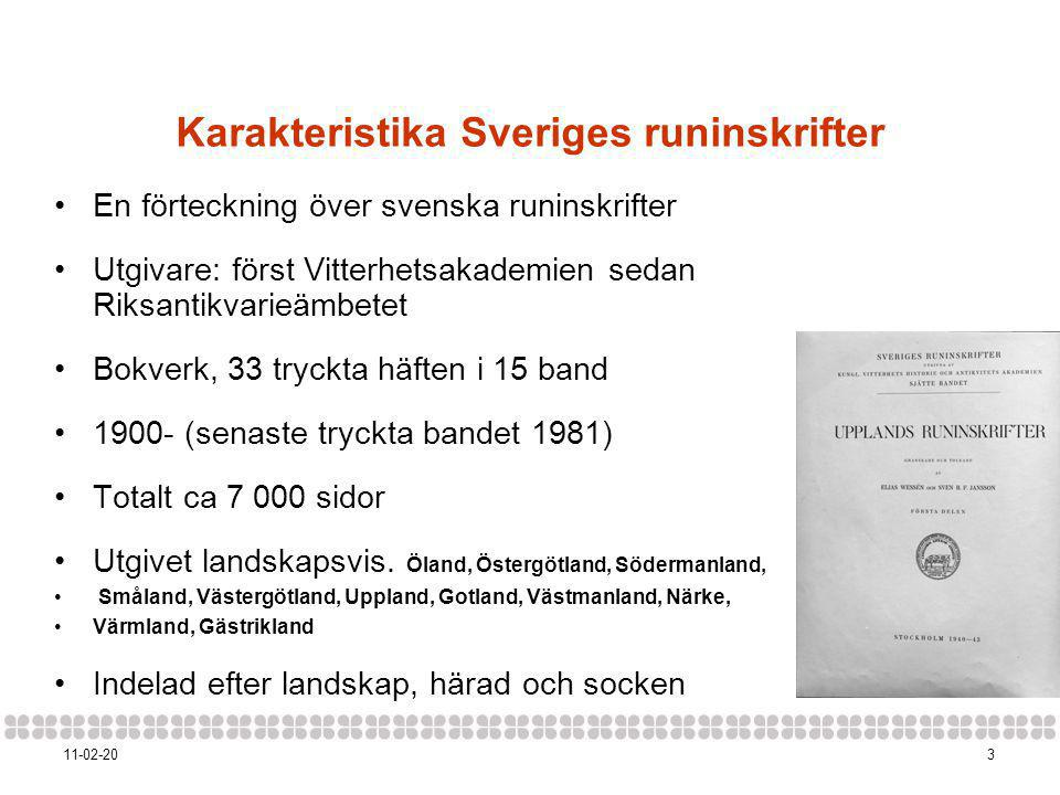 Karakteristika Sveriges runinskrifter