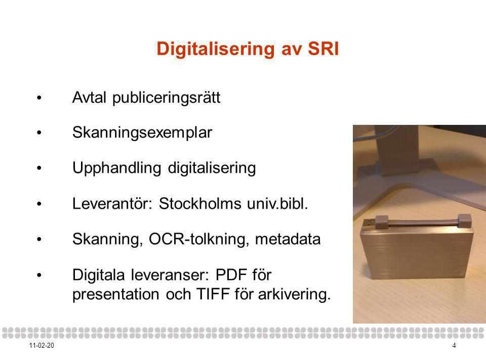Digitalisering av SRI Avtal publiceringsrätt Skanningsexemplar