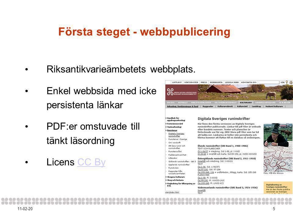Första steget - webbpublicering