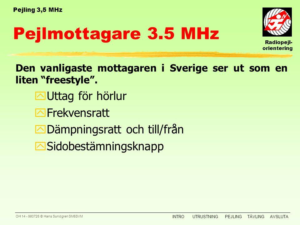 Pejlmottagare 3.5 MHz Uttag för hörlur Frekvensratt