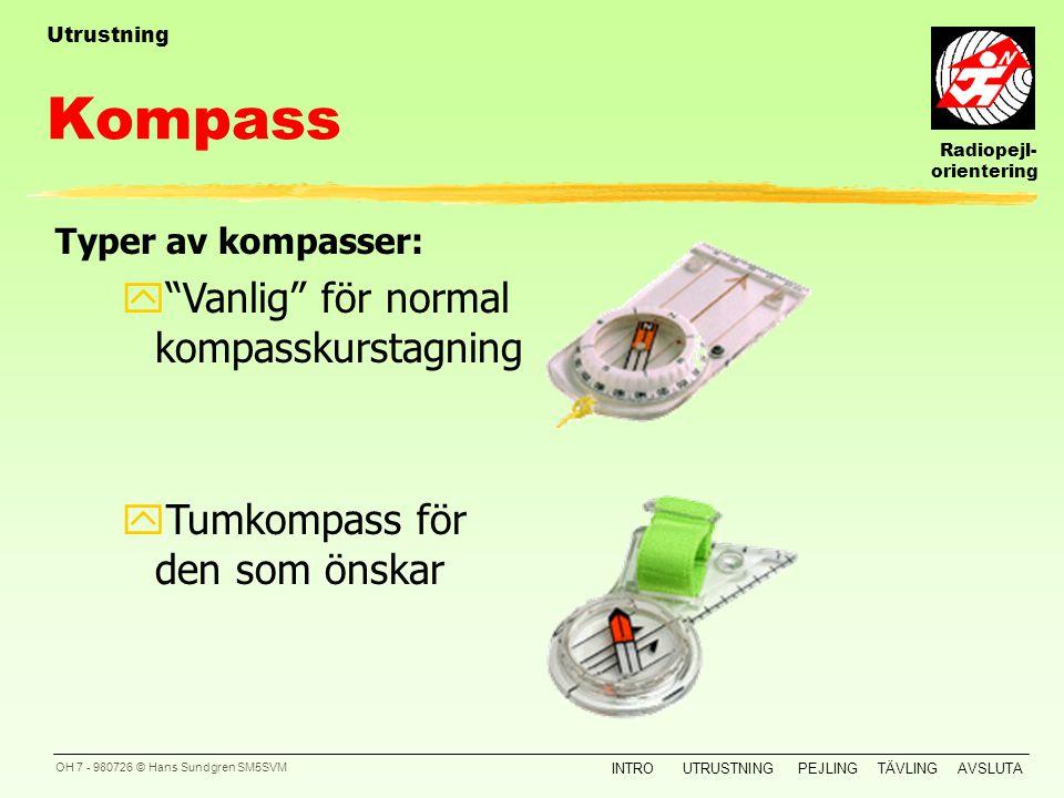 Kompass Vanlig för normal kompasskurstagning