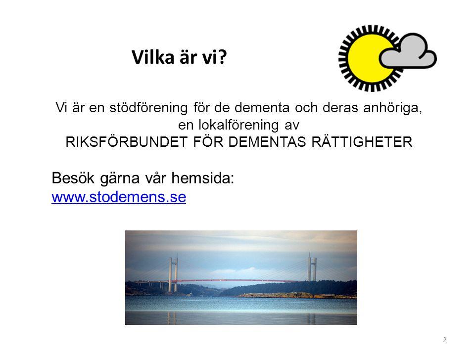 Vilka är vi Besök gärna vår hemsida: www.stodemens.se